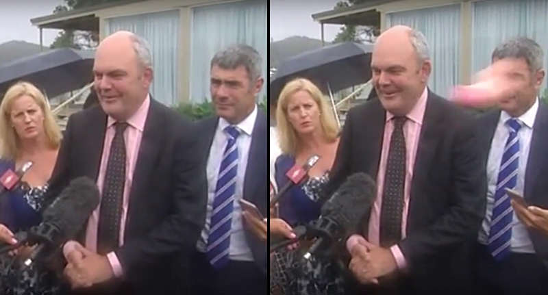 Politician Slapped In The Chops By Flying Sex Toy politician dildo FB