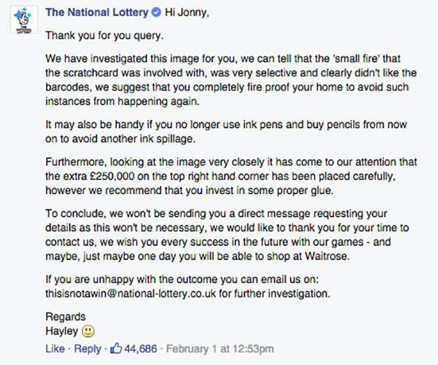 scratchcard lol 3 Man Claims Fake £250,000 Scratchcard, National Lottery Respond