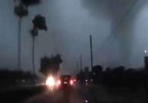 Guy Has Incredible Road Rage Reaction To Getting Caught In Hurricane