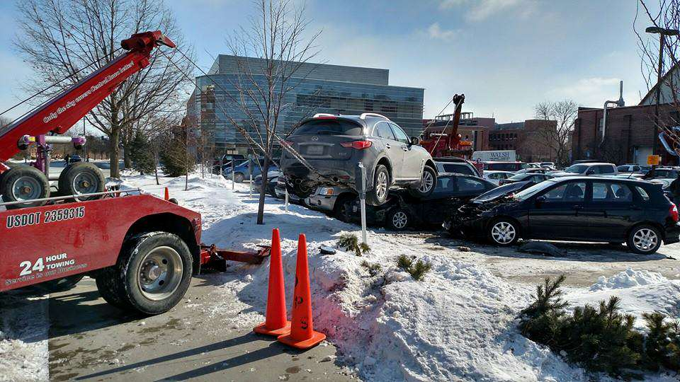 suv2 Peoples Reaction To This SUV Crashed On Top Of Cars Proves Humanity Is F*cked