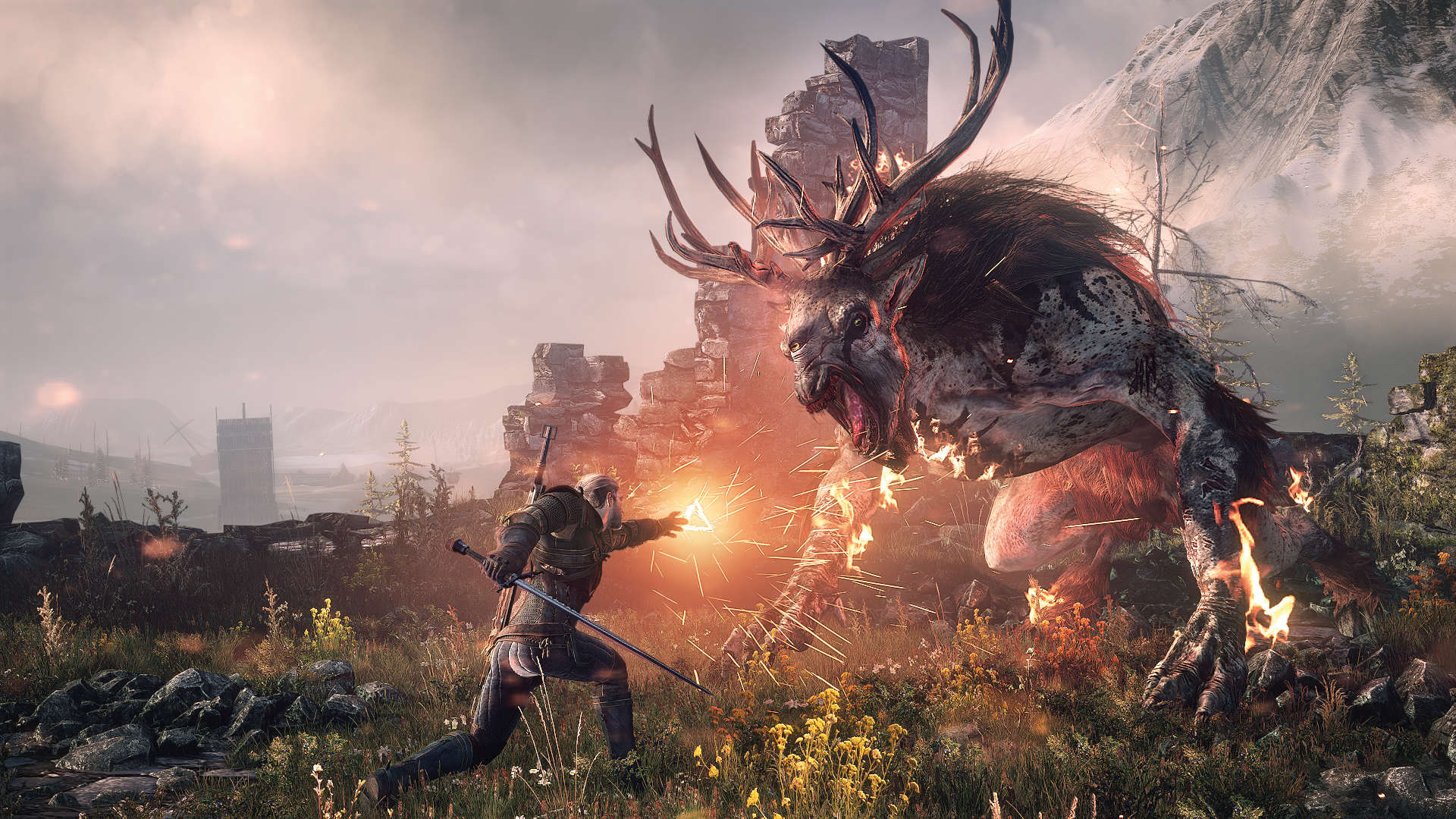 2457637 the witcher 3 wild hunt geralt vs fiend Heres All The Winners And Losers From The GDC Awards 2016