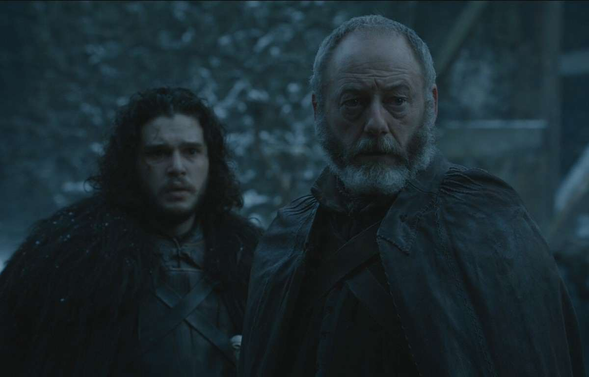 Davos and Jon hear about the deaths of Stannis and Shireen 1200x768 Game Of Thrones Actor Promises Weirdest, Darkest Season Yet
