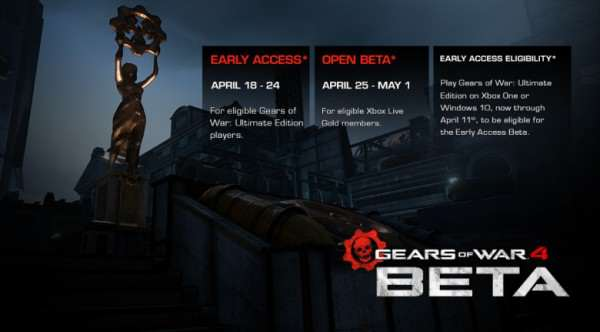 Heres When You Can Play The Gears Of War 4 Beta Gears of war 4 multiplayer beta 600x332
