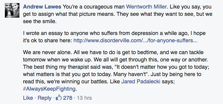 Screen Shot 2016 03 29 at 13.33.30 How The World Reacted To Wentworth Millers Emotional Facebook Post