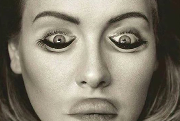 This Optical Illusion of Adele Will F*ck With Your Mind Upside Down Adele 633x426