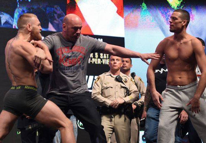 Conor McGregor And Nate Diaz Talk More Trash Before Weigh In Scuffle diaz1 1