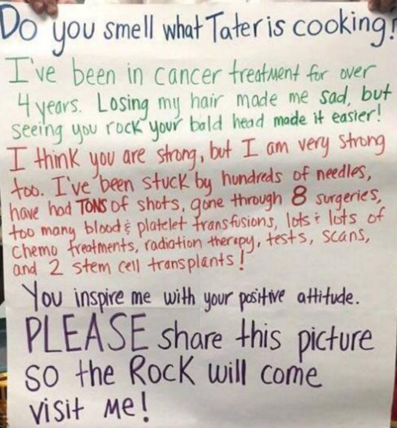 The Rock Made This Kids Dream Come True, And Made Us Jealous letter