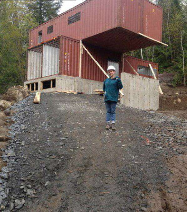 outside This Woman Built An Insanely Cool Home From A Shipping Container