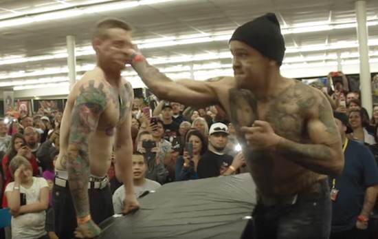 Ridiculous Slap Off Competition Features Brutal KO And Controversy slaps 1