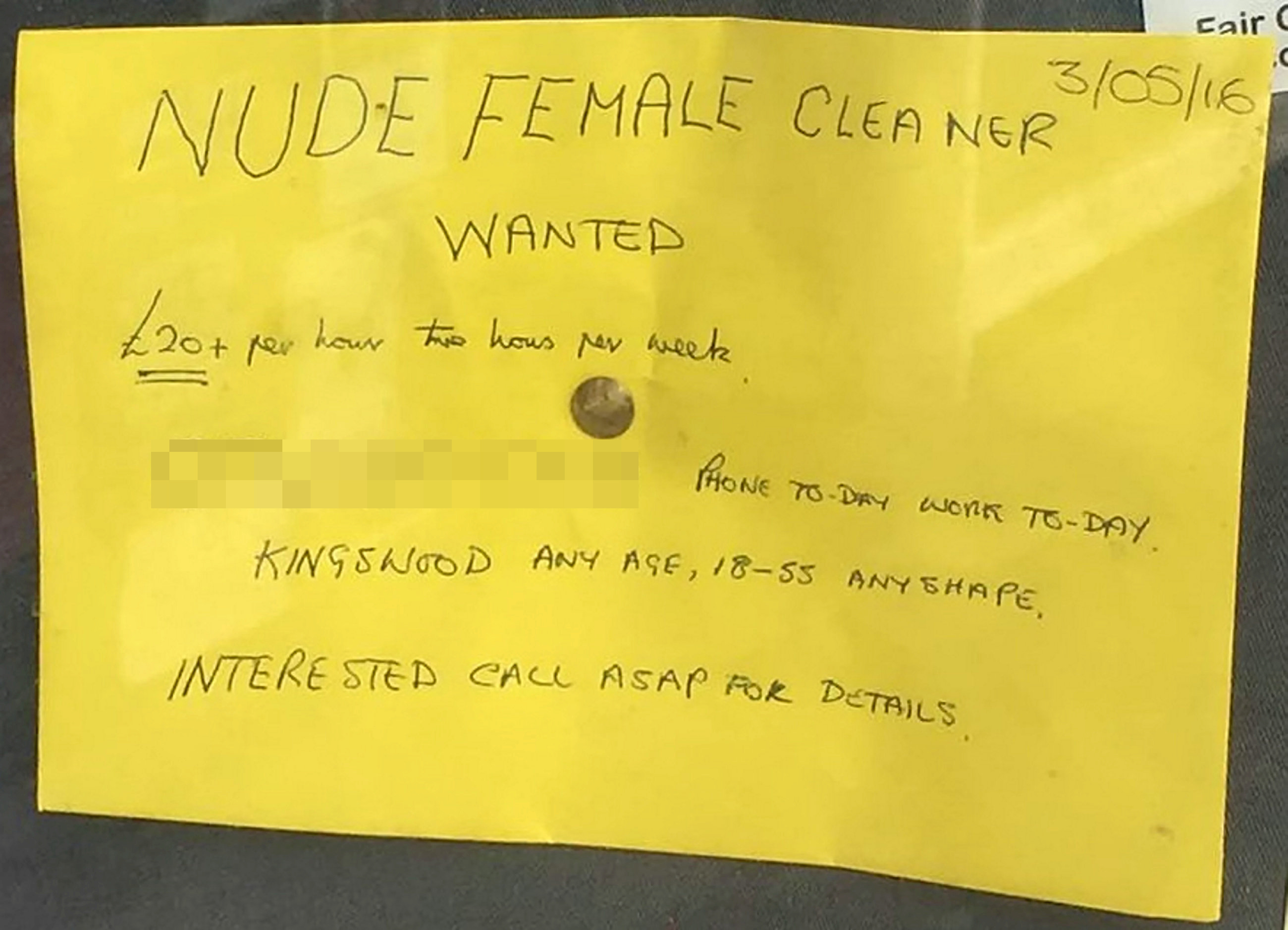 SWNS NUDE CLEANER 01 1 Man, 70, Advertises For Nude Female Cleaner, Gets Incredible Response