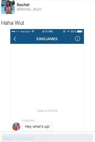 Married LeBron James Allegedly F*cks Up By Messaging Instagram Model Screen Shot 2016 04 12 at 17.42.25