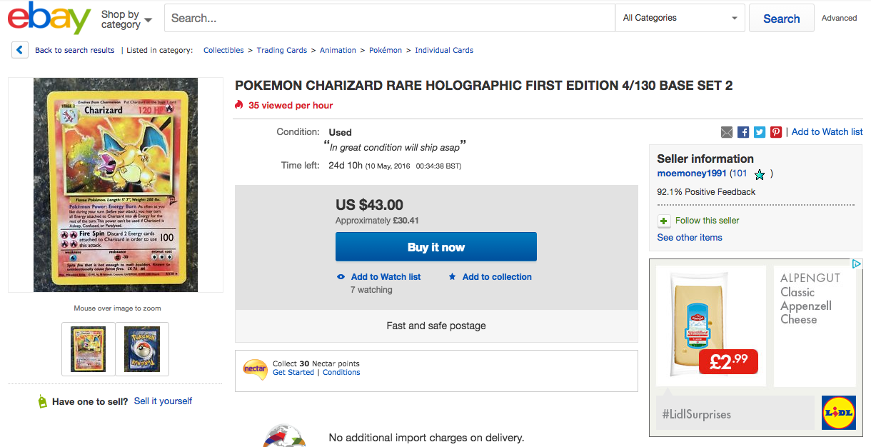 Screen Shot 2016 04 15 at 13.47.48 Turns Out Your Pokémon Cards Could Be Worth A Lot More Than You Think