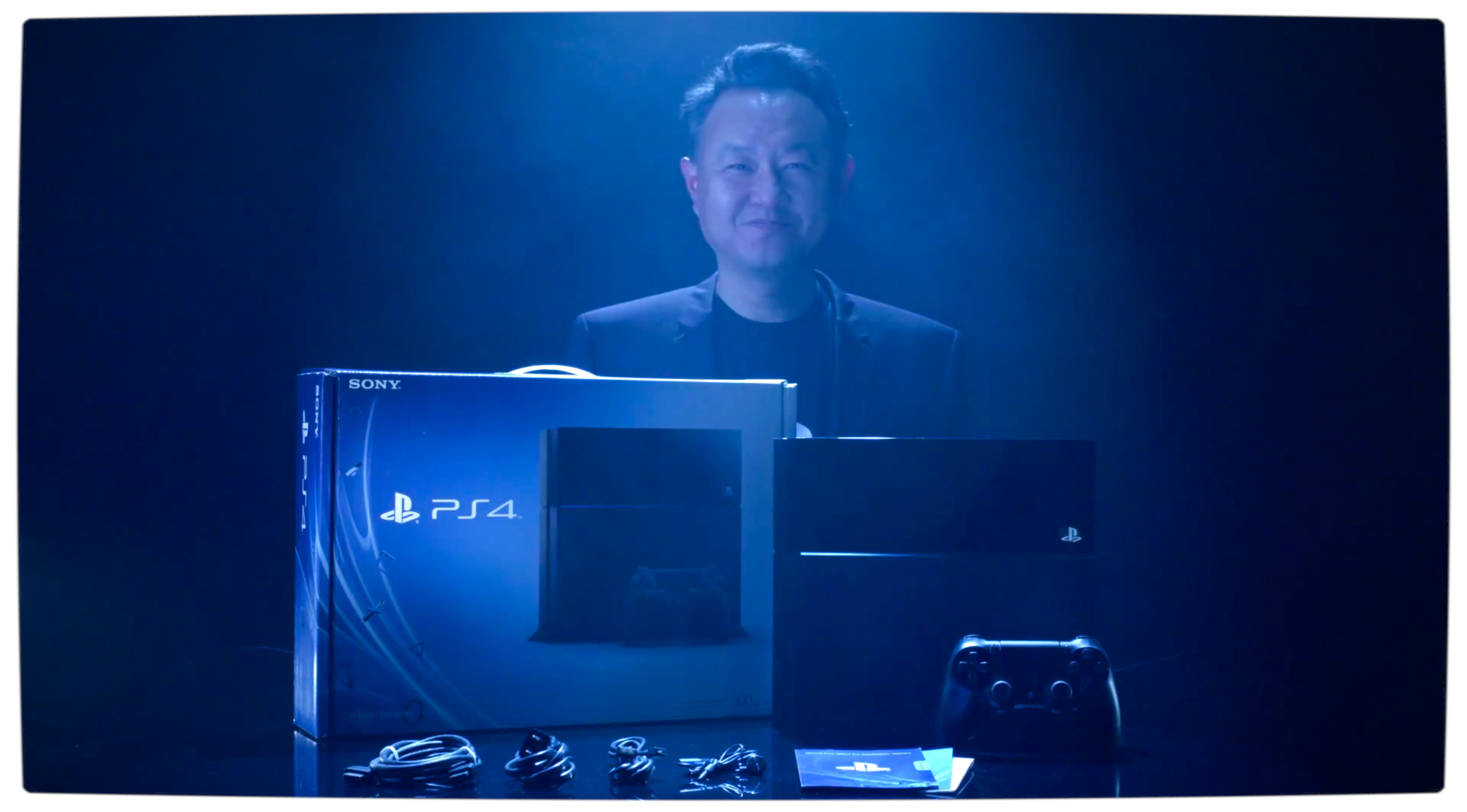 Vamers Gaming Sony Channels Daft Punk in Official PlayStation 4 Unboxing Video Shuhei Yoshida with the PlayStation 4