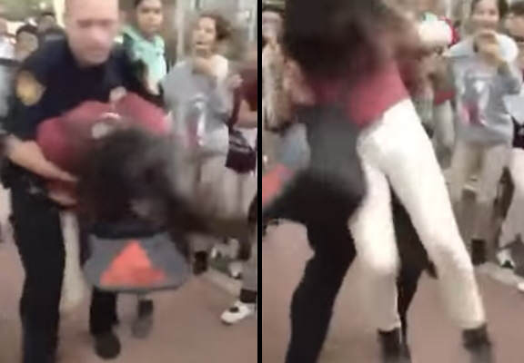 bodyslam 1 Shocking Moment Police Officer Body Slams 12 Year Old Girl