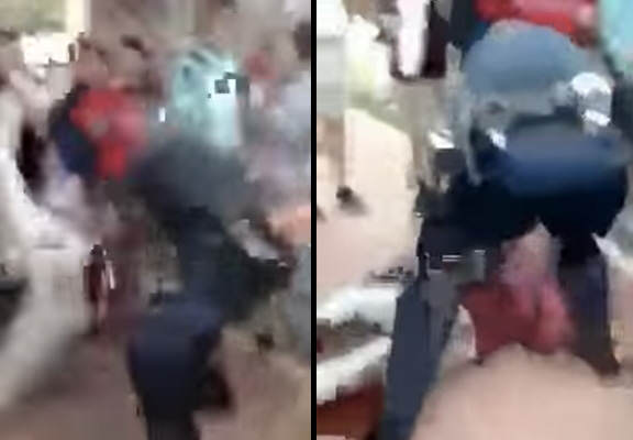 bodyslam 2 1 Shocking Moment Police Officer Body Slams 12 Year Old Girl
