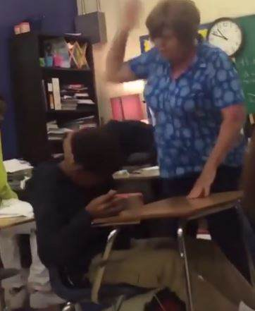 Teacher Arrested After Video Of Her Repeatedly Hitting Student Goes Viral capture3