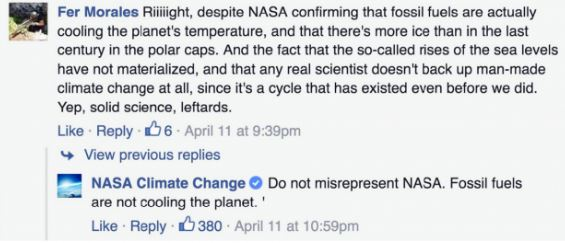 fb1 NASA Is Shutting Down Global Warming Deniers On Bill Nyes Facebook