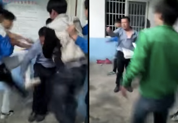 Shocking Video Of Teacher Getting Beaten By Students Goes Viral fight 3