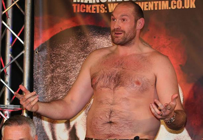 fury1 1 Tyson Fury Wishes He Had Anthony Joshuas Big C*ck