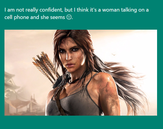tomb raider Microsofts CaptionBot Really Doesnt Get Videogames