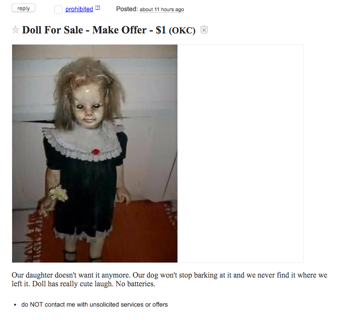 zoaVXRZ This Advert For The Creepiest Doll Ever Will Keep You Awake Tonight