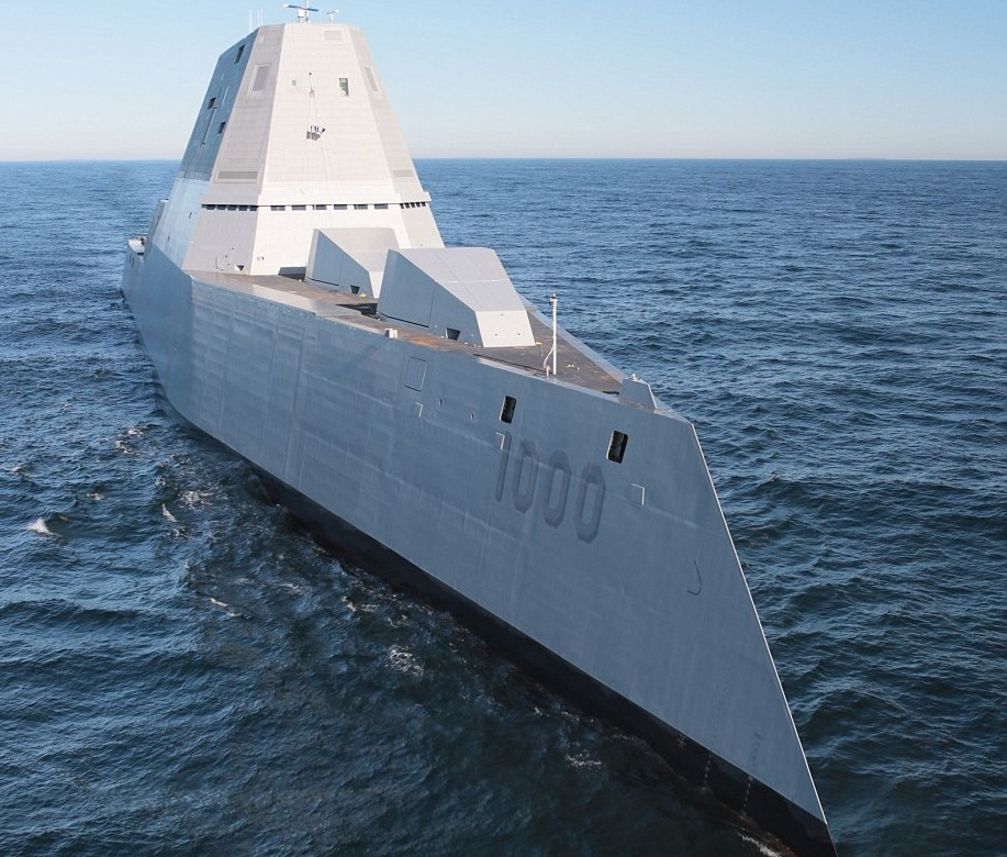 3433EC9400000578 3592373 Despite its enormous size the ship s unique angular shape makes  a 13 1463385911064 U.S. Navy Reveals Their Deadliest Destroyer And Its Pretty Crazy