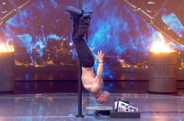 Alex Magala vaults on the judges table in dare devil LIVE chainsaw act which leaves audiences gasping Viewers Furious After Spotting Safety Wire During Life Threatening Britains Got Talent Stunt