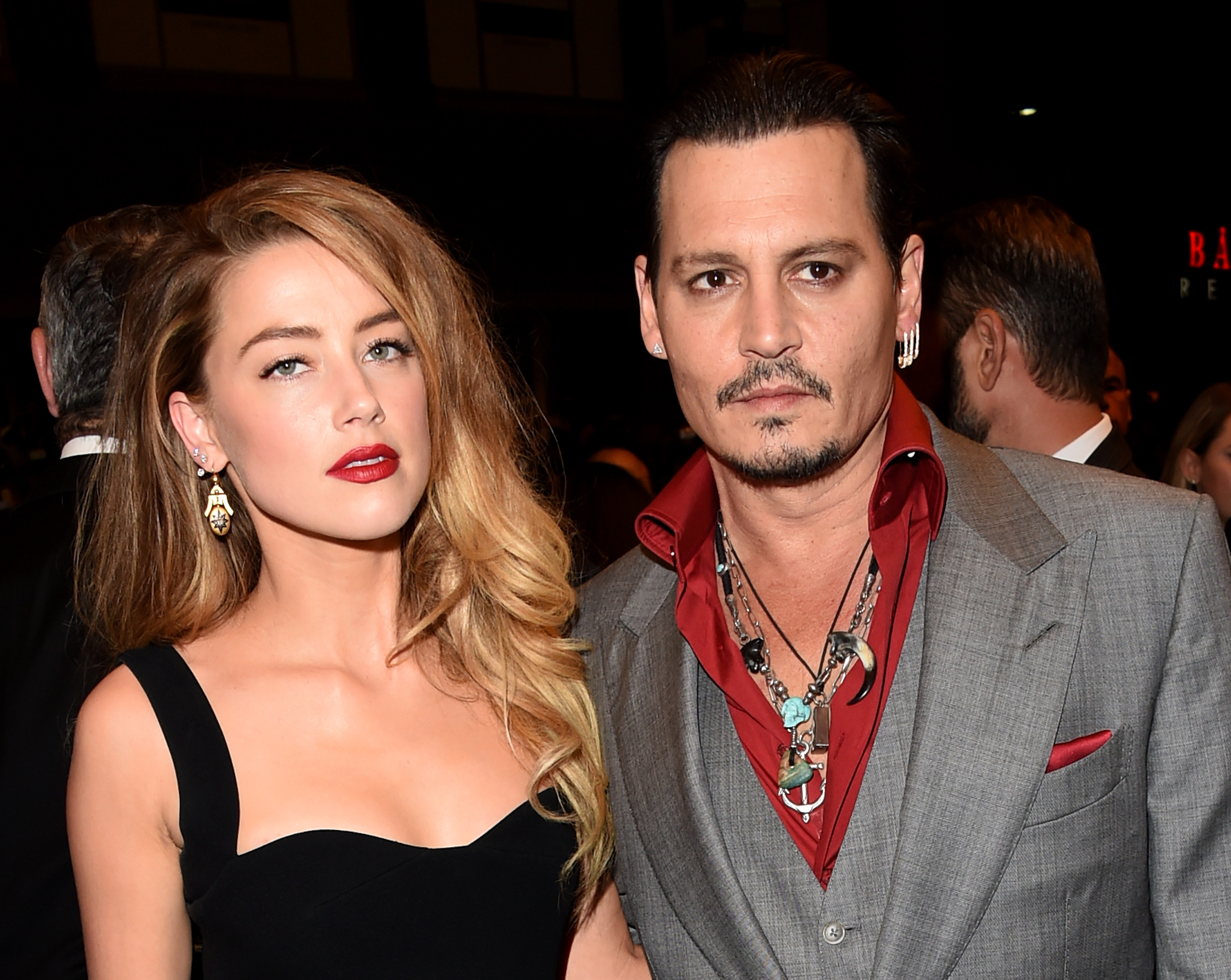 GettyImages 488255658 Amber Heard Really Isnt Happy With Husband Johnny Depp