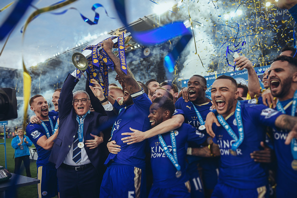 Leicester title lift michael regan getty Leicester Fan Aims To Top Off Season With Epic Charitable Gesture