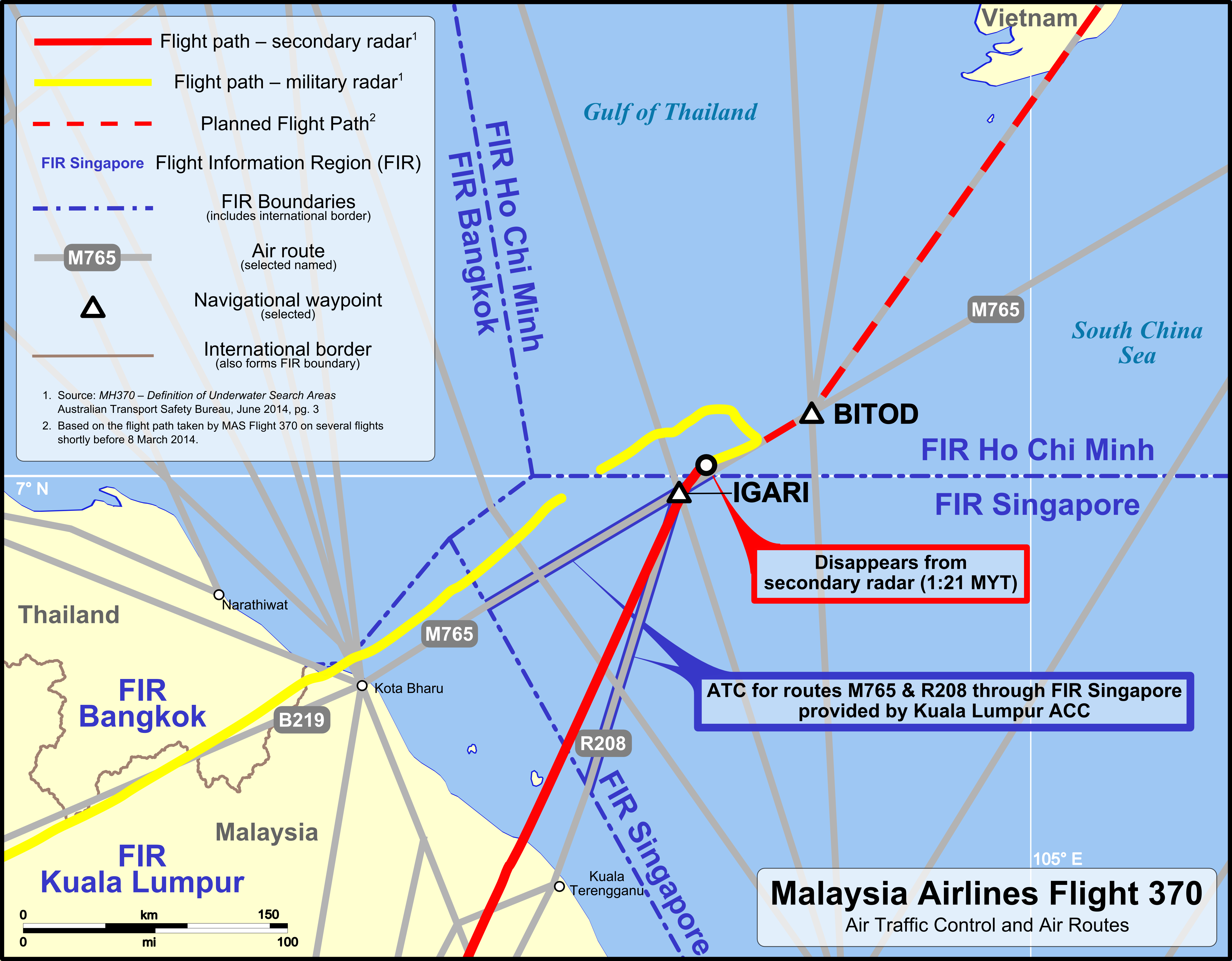 MH370 ATC and air routes map Debris Found Two Months Ago Almost Certainly From MH370