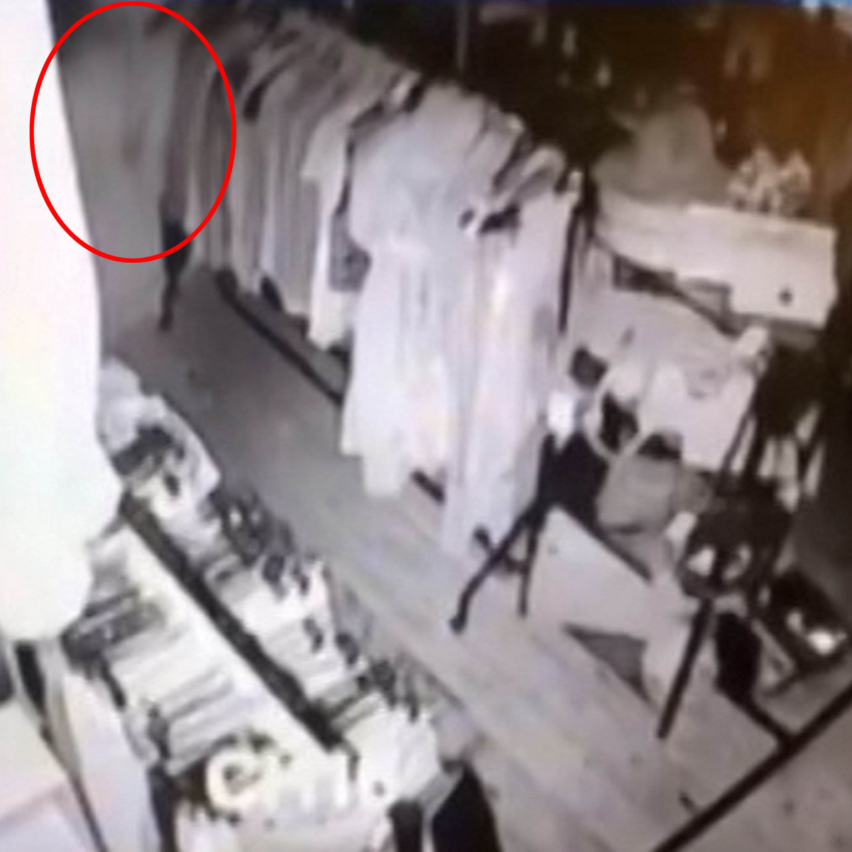 SWNS SHOP GHOST 02A Creepy As F*ck CCTV Footage Shows Ghost Wandering Around Vintage Store