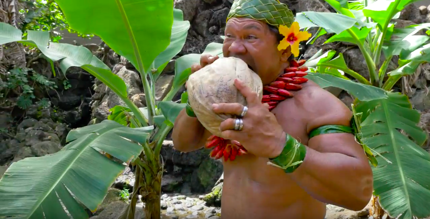 Guy Husks Coconut With Teeth In Badass Video Screen Shot 2016 05 09 at 11.58.48