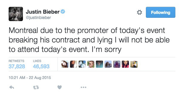 Screen Shot 2016 05 17 at 16.06.12 Justin Bieber Chats Shit On Twitter, Gets Banged With Huge Lawsuit