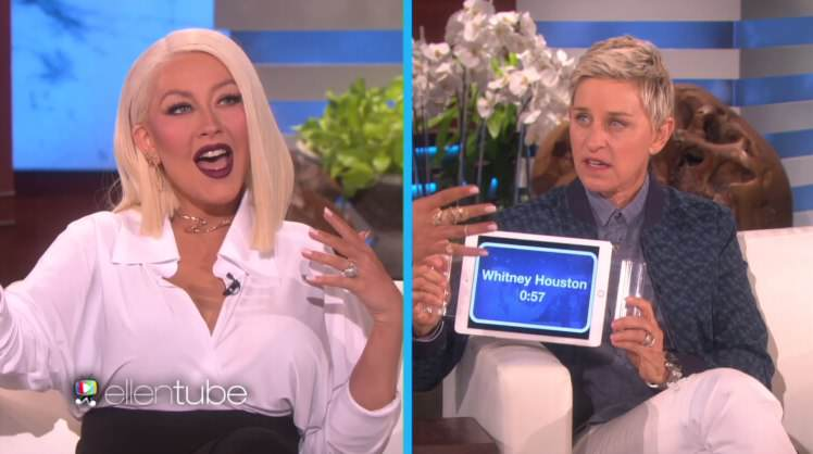 Christina Aguilera Singing Whitney, Adele And Madonna Is Incredible aguilera1