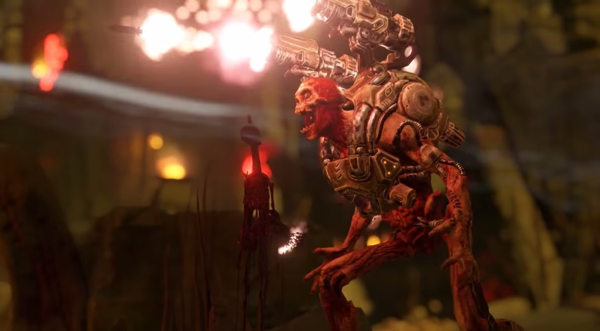 Guns And Gore In DOOMs Bloody Launch Trailer doom 2016 01