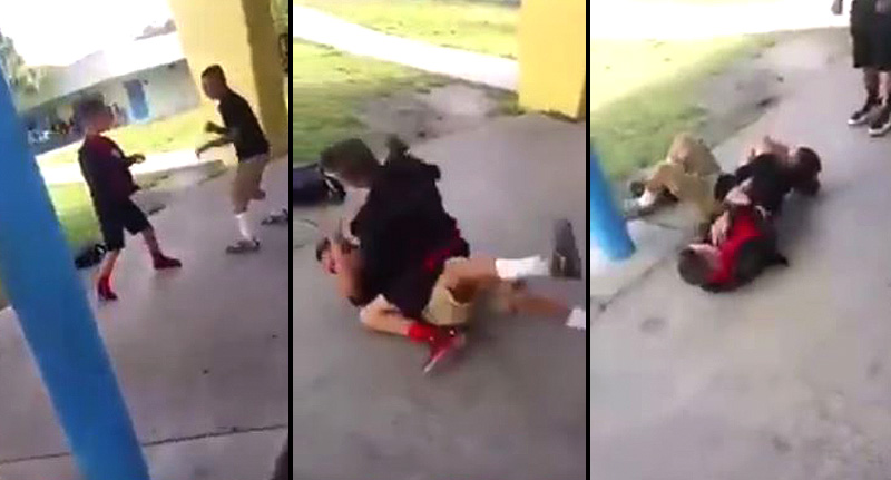 vid fb School Bully Instantly Regrets F*cking With Kid With MMA Skills