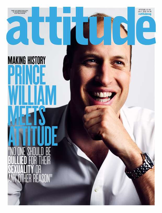 2480 Prince William Appears On Cover Of Gay Magazine