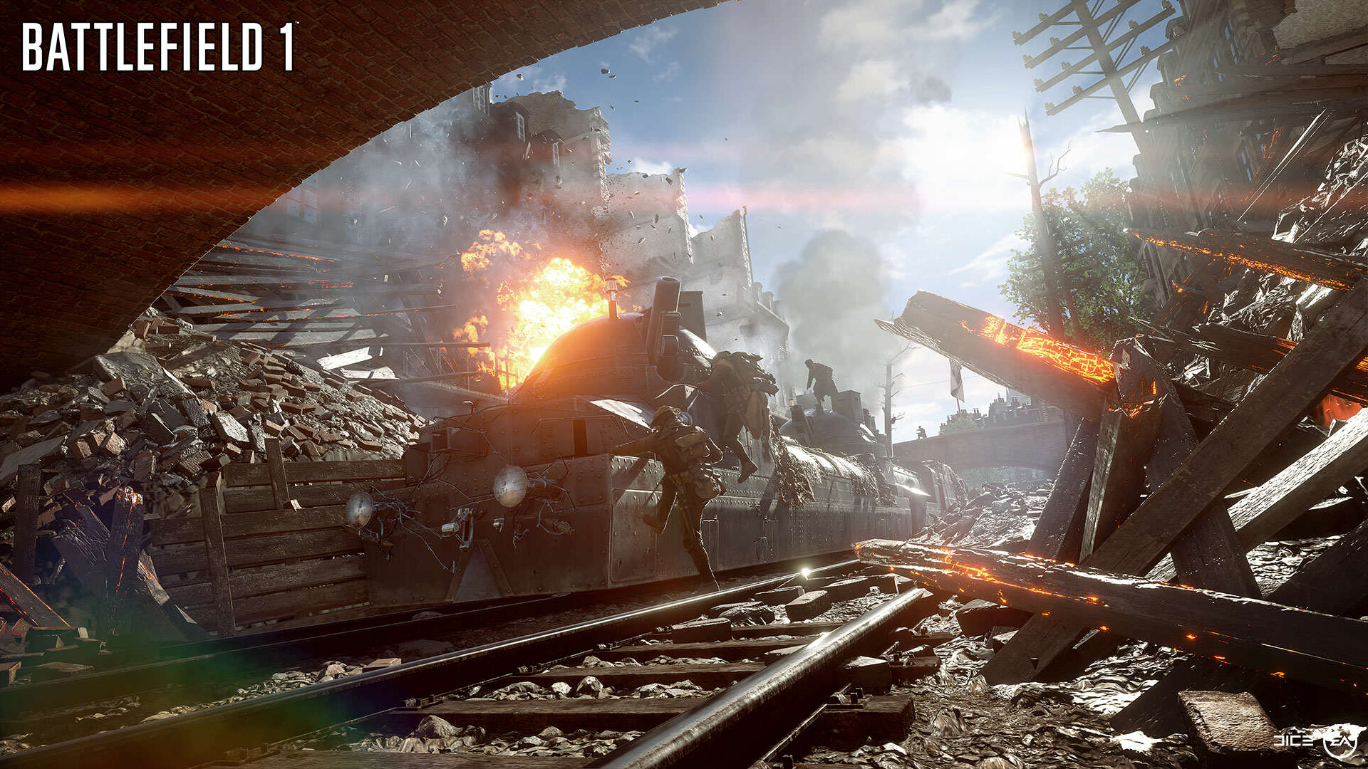 BF1 EA PLAY 04 BEHEMOTH TRAIN WM Battlefield 1 Gets Epic New Trailer And Gameplay Features
