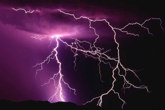 Pink Lightning 640x426 Crowds Injured When Lightning Strikes Rock Festival   For The Second Year Running