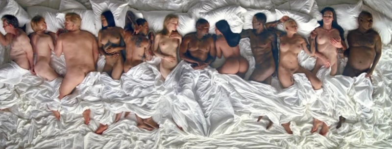 Screen Shot 2016 06 24 at 11.13.10 PM Kanye Wests New Music Video Features Naked Taylor Swift