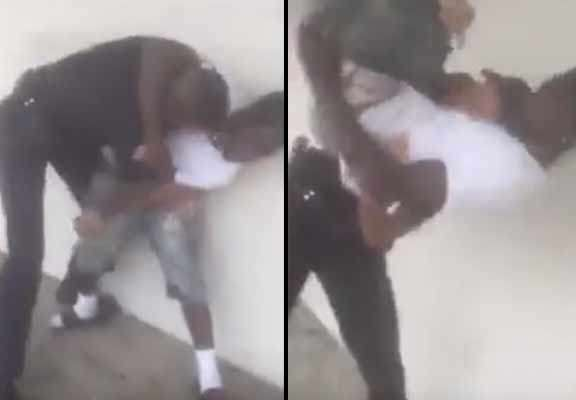 police 2 Shocking Moment Police Officer Bodyslams Young Suspect