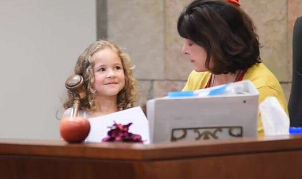 Court Officials Went Extra Mile To Give A Little Girl A Fairy Tale Adoption princess 2