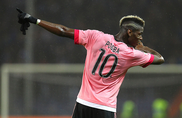 United Fans Claim Theyve Signed Pogba After Mourinhos Tactics Board Leak Pogba Dab Getty 1