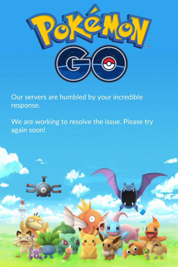 Pokemon Go servers are down 1 These People Are Claiming Responsibility For Taking Down Pokemon GO