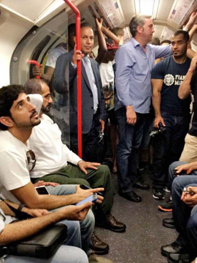 dubai11 Ruler Of Dubai Took Son On The Tube And People Loved It