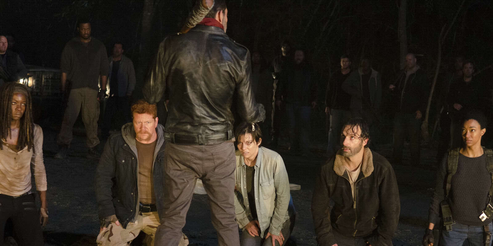 landscape 1459858342 negan line up the walking dead New Walking Dead Trailer Reveals Major Clue To Who Dies