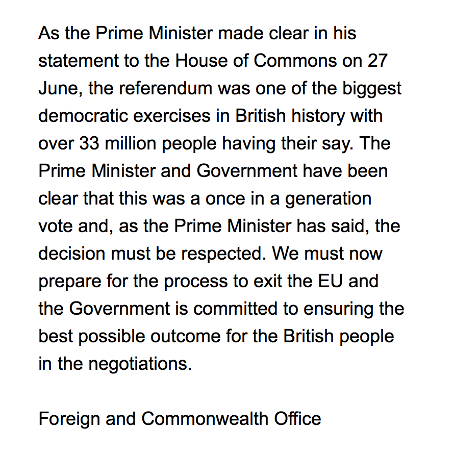 response2 The Government Responds To Calls For A Second EU Referendum