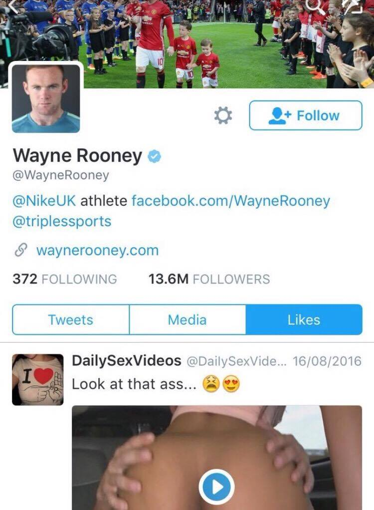 14138917 10210793667104771 808270566 o Wayne Rooney Ripped To Shreds After Liking Very NSFW Tweet