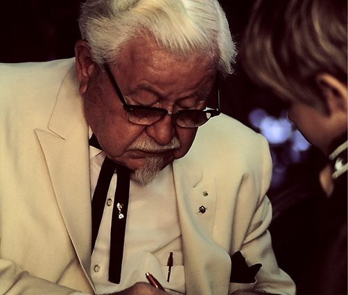 Colonel Harland Sanders in character 502x426 KFC's Secret Recipe Discovered In Old Scrapbook