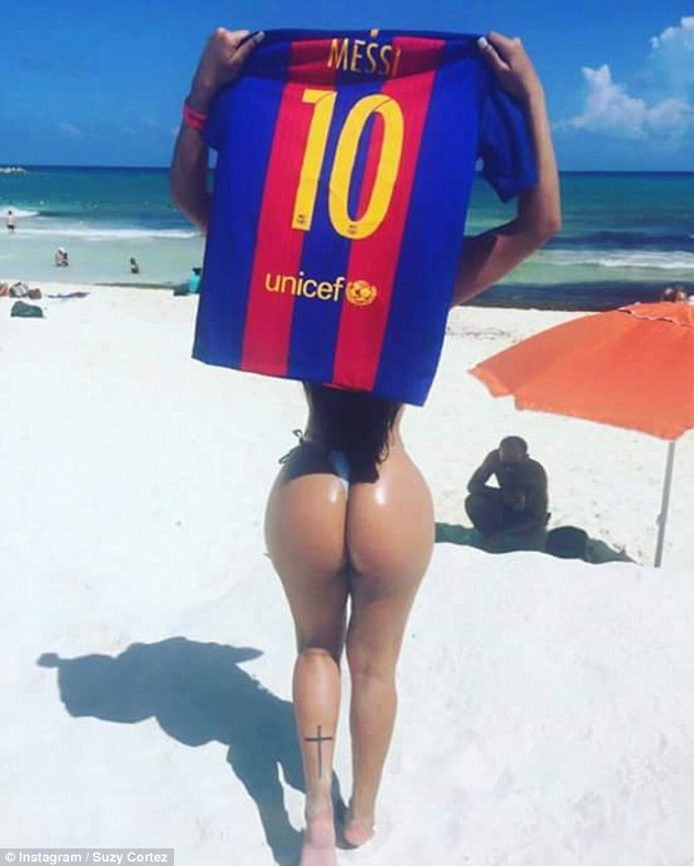 Cortez Insta Miss Bumbum Launches Insane Campaign To Win Messis Affections